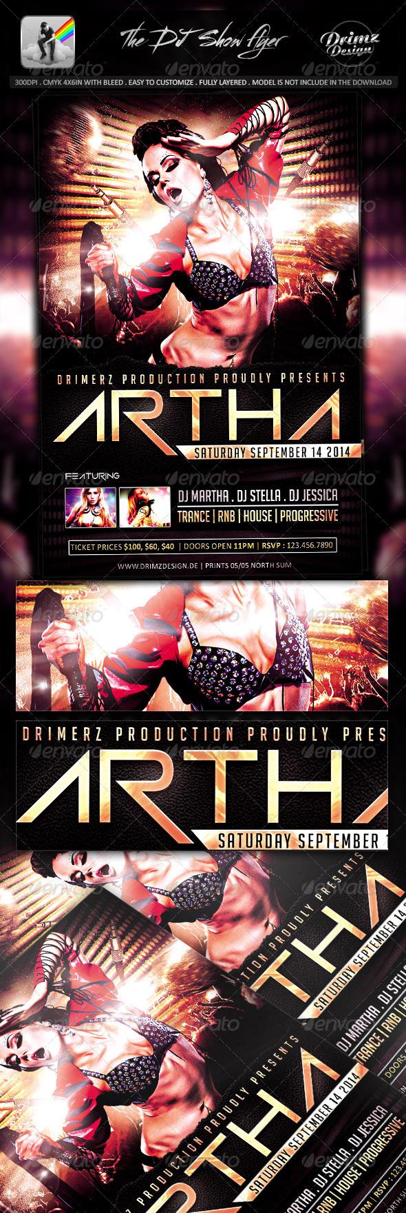 GraphicRiver The DJ Show Flyer 7939413