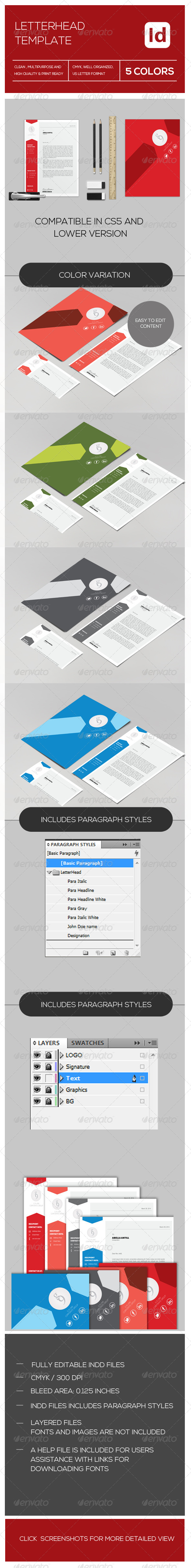 GraphicRiver Letterhead Package 7939592