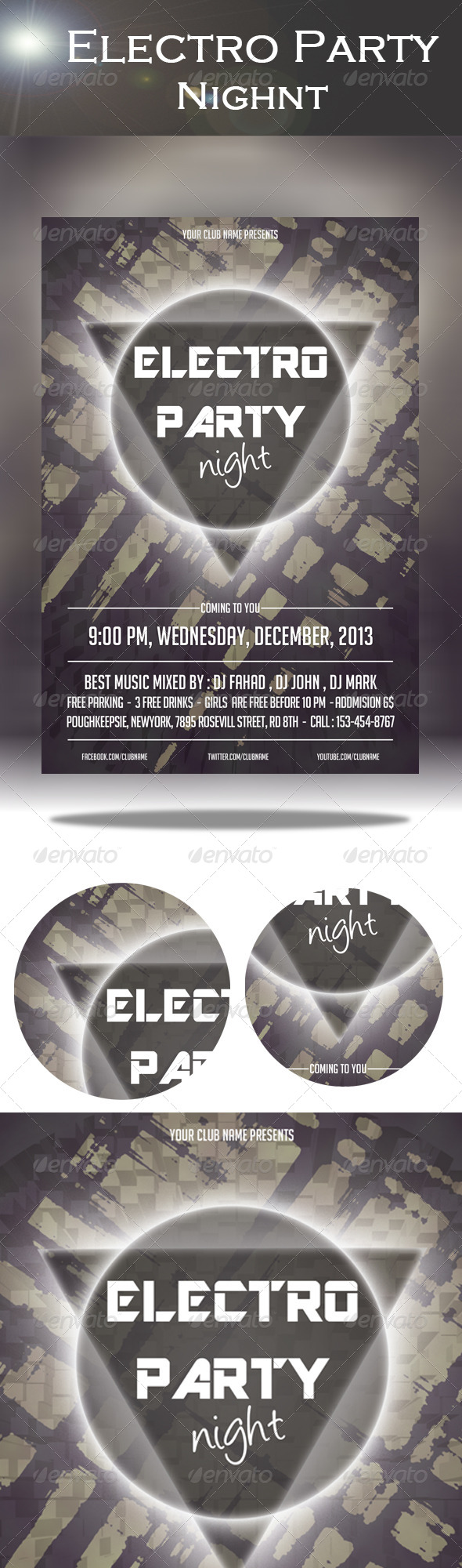 GraphicRiver Electro Party Night Flyer 7939601