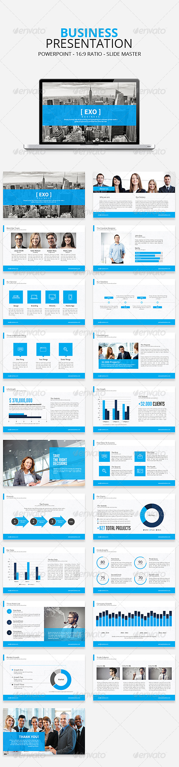 GraphicRiver Exo Business Powerpoint Presentation Template 7939639