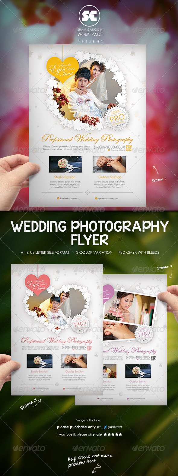 GraphicRiver Clean Wedding Photography Flyer 7939711