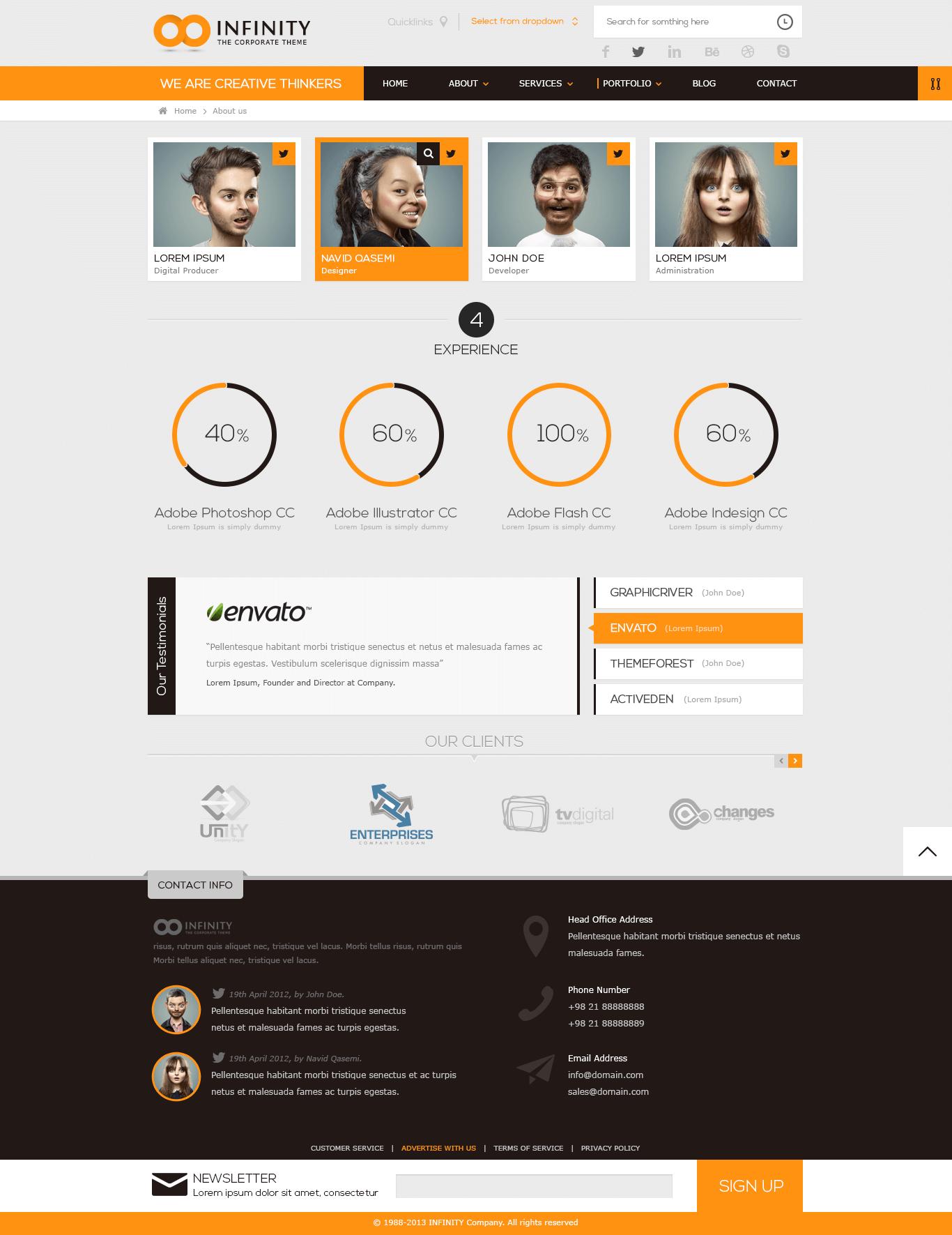 INFINITY  |  Multipurpose HTML5 Template