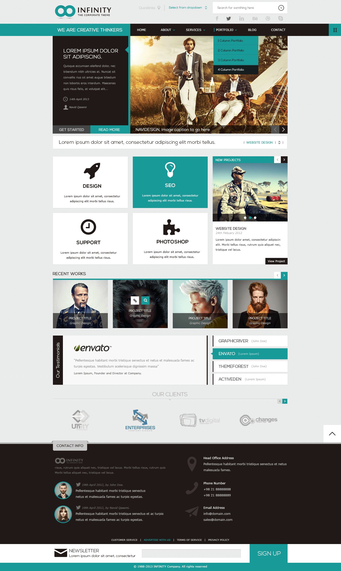 INFINITY  |  Multipurpose HTML5 Template