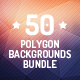 50 Polygon Backgrounds Bundle - GraphicRiver Item for Sale