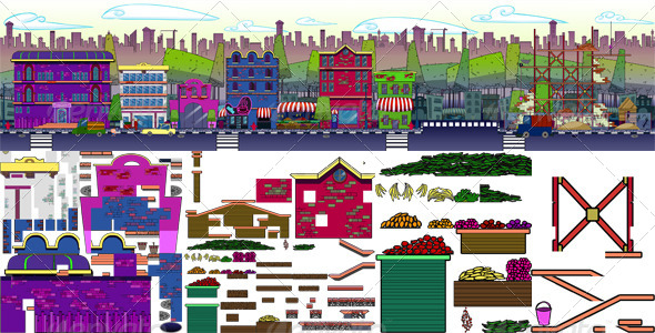 GraphicRiver Cartoon Game TileSet 7939939