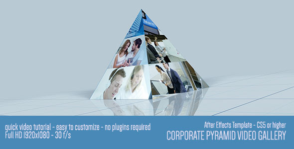 VideoHive Corporate Pyramid Video Gallery 7939944