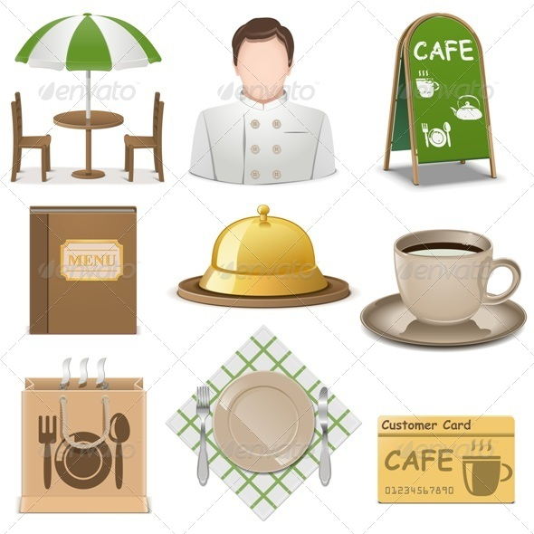 GraphicRiver Cafe Icons 7940155