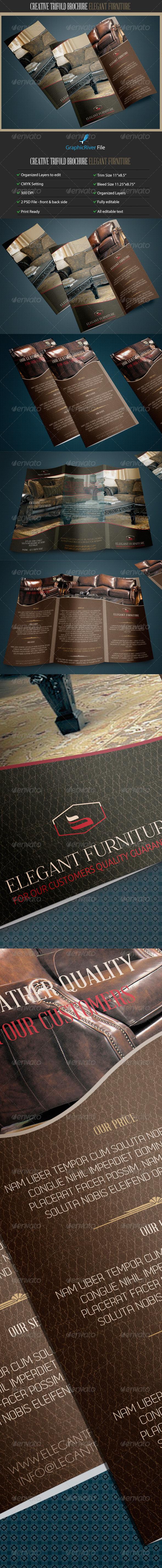 GraphicRiver Creative TriFold Brochure Elegant Furniture 7940164