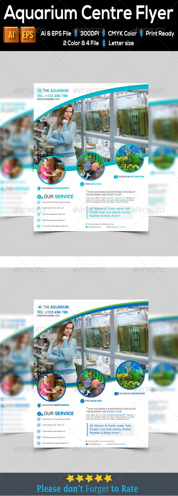 GraphicRiver Aquarium Centre Flyer 7940215