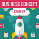 3 Business Concept in Flat Design Style - GraphicRiver Item for Sale