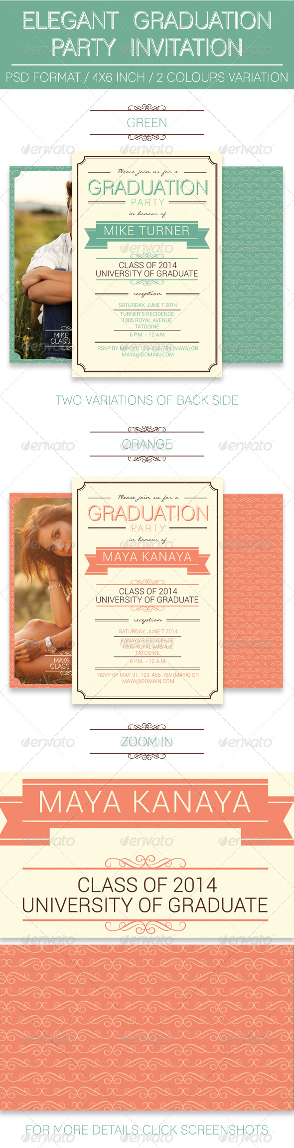 GraphicRiver Elegant Graduation Party Invitation 7940376