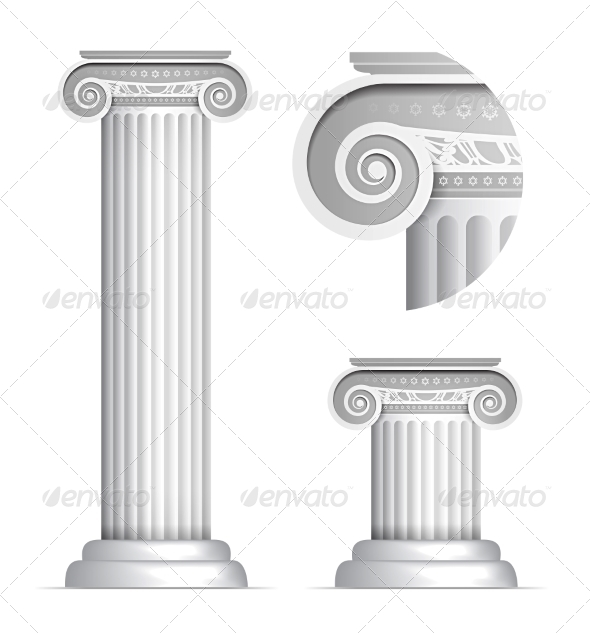 GraphicRiver Classical Greek or Roman Ionic Column 7940518