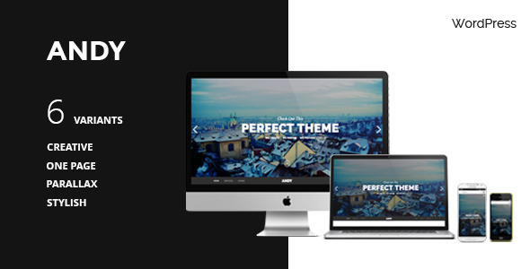 ThemeForest ANDY WordPress One-Page Simple Parallax Theme 7940535