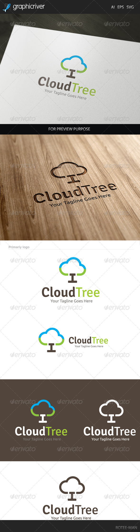 GraphicRiver Cloud Tree Logo 7940538