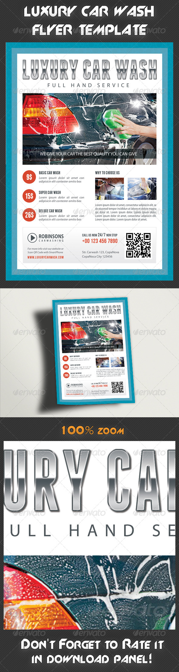 GraphicRiver Car Wash Flyer 02 7940541