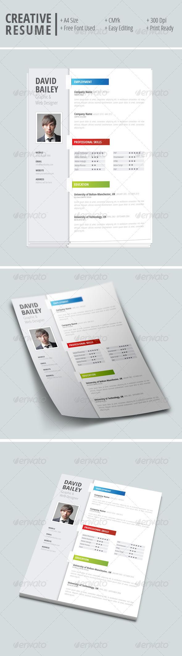 GraphicRiver Creative Resume 7940636