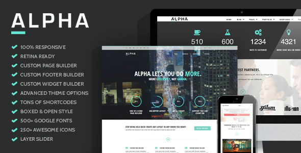 Alpha - Ultra Flexibile Responsive WordPress Theme