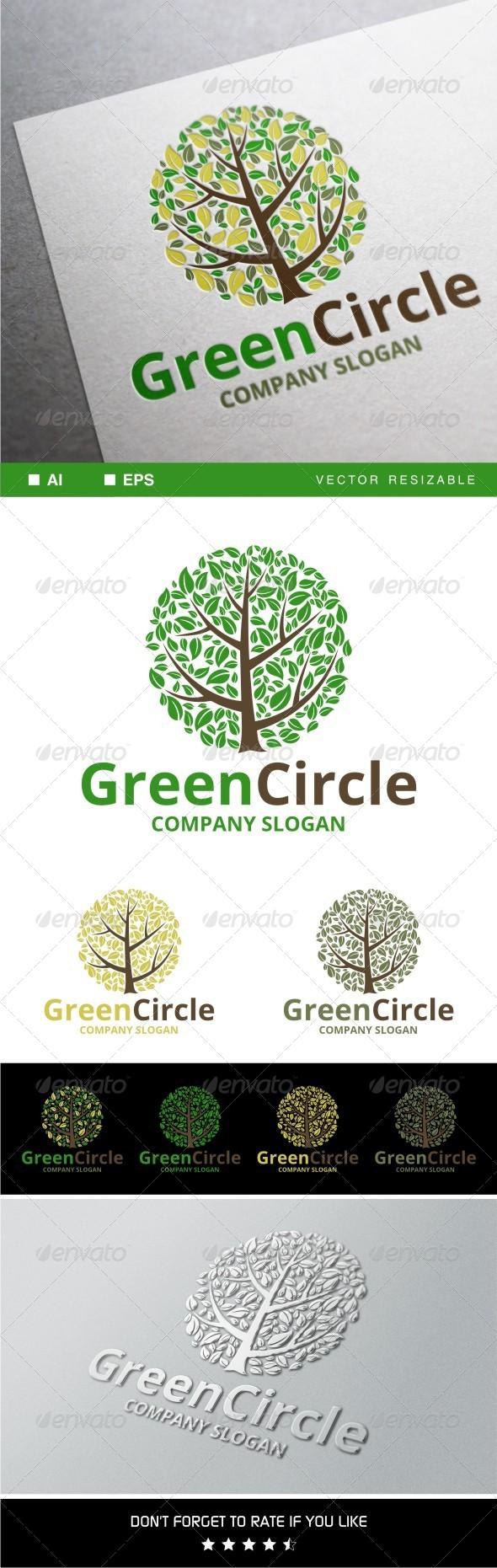 GraphicRiver Green Circle Logo 7941151