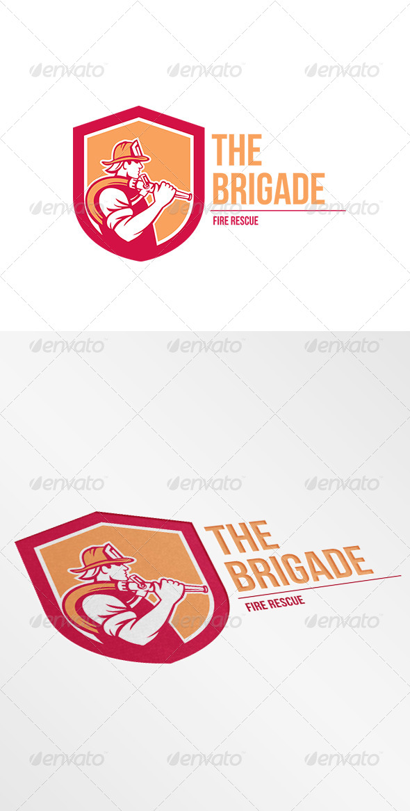 GraphicRiver The Brigade Fire Rescue Logo 7941262