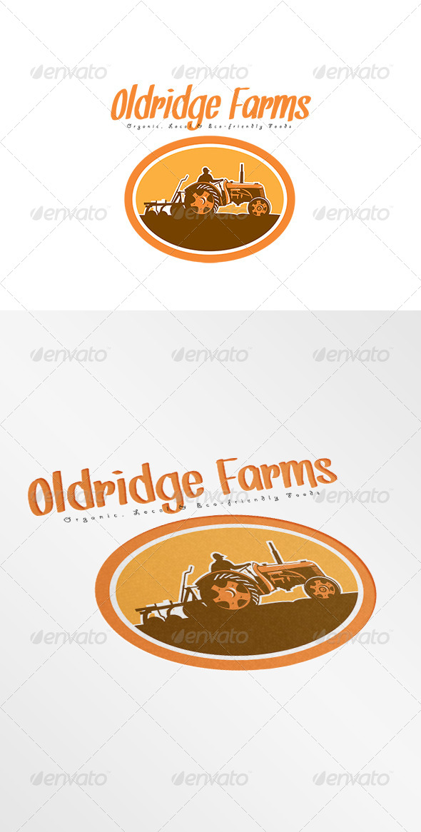 GraphicRiver Oldridge Farms Organic Local Foods Logo 7941342