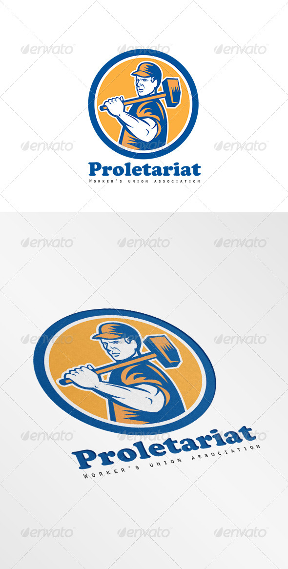 GraphicRiver Proletariat Union Workers Association Logo 7941369