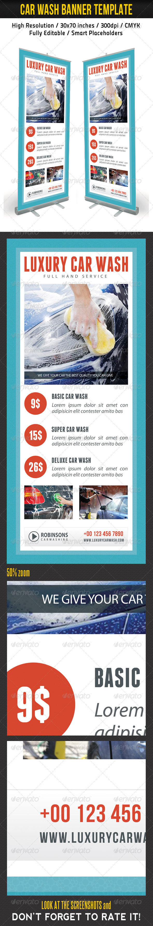 GraphicRiver Car Wash Banner Template 02 7941487