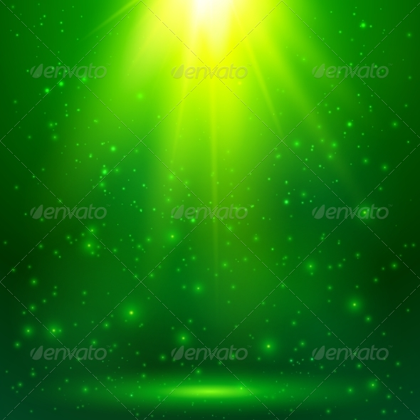 GraphicRiver Green Shining Magic Vector Light Background 7941513
