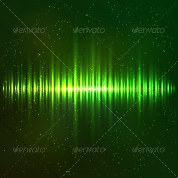 GraphicRiver Green Shining Light Vector Equalizer 7941554