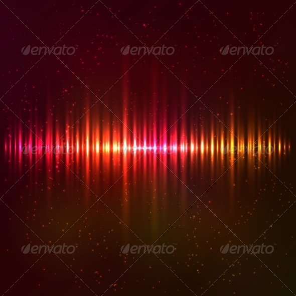 GraphicRiver Red Shining Vector Equalizer 7941595