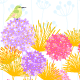 Colorful Hummingbird and Flower - GraphicRiver Item for Sale