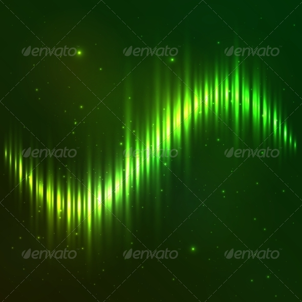 GraphicRiver Green Shining Vector Wave Equalizer 7941701