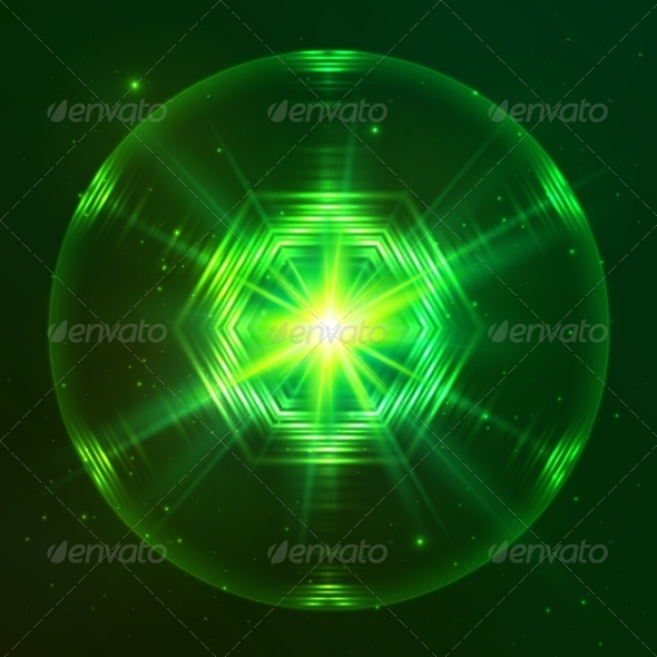 GraphicRiver Green Shining Techno Vector Sphere 7941703