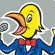 Yellow Bird Singing Cartoon - GraphicRiver Item for Sale