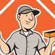 Bricklayer Mason Plasterer Standing Shield Cartoon - GraphicRiver Item for Sale