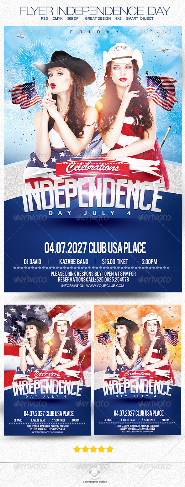 Flyer Independence Day - Events Flyers