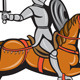 Knight Riding Horse Cartoon - GraphicRiver Item for Sale