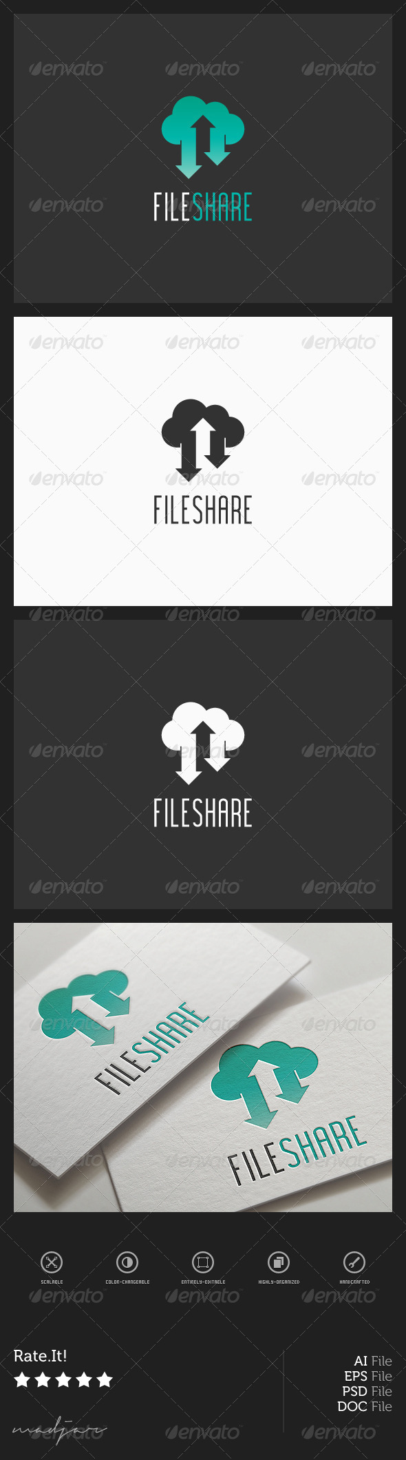 GraphicRiver Cloud Share Logo 7941834