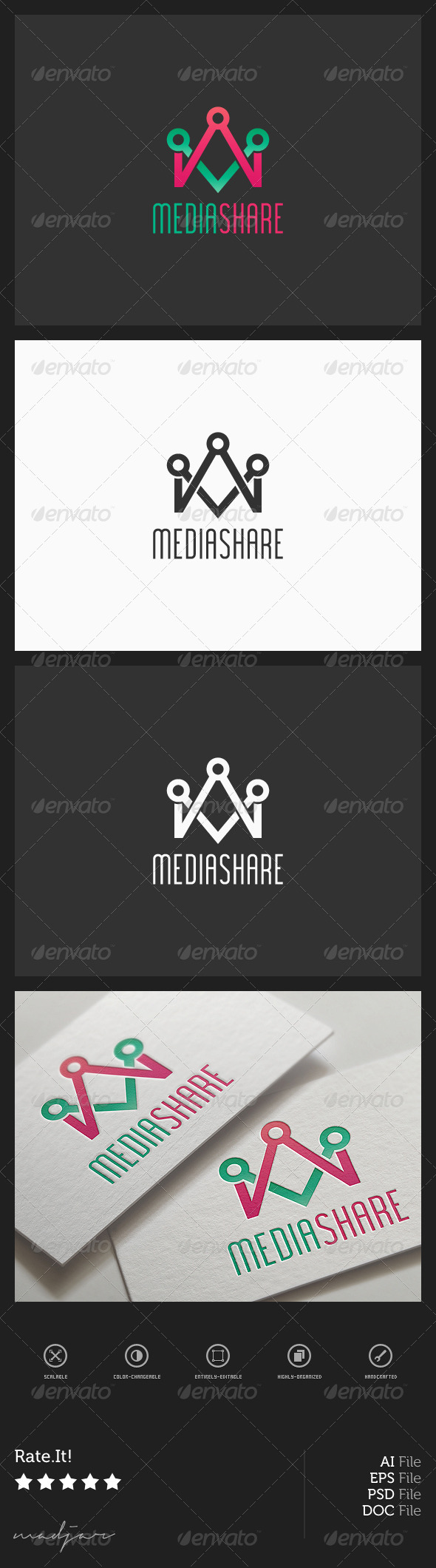 Media Share Logo - Symbols Logo Templates