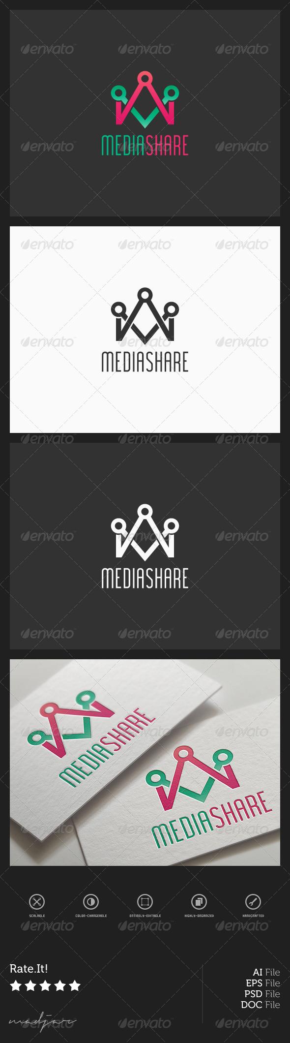 GraphicRiver Media Share Logo 7941837