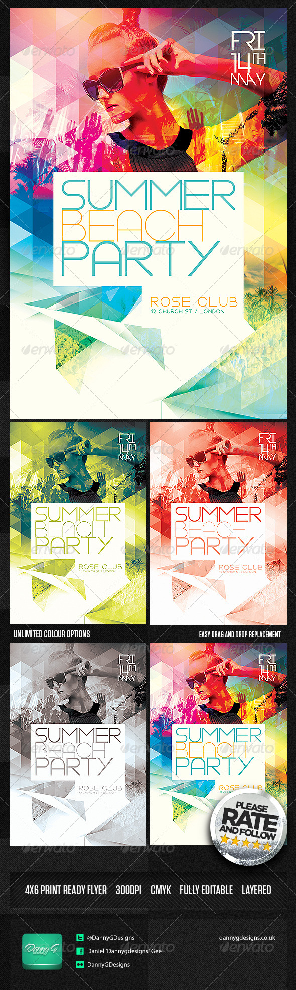 GraphicRiver Summer Beach Party Flyer Template PSD 7941843