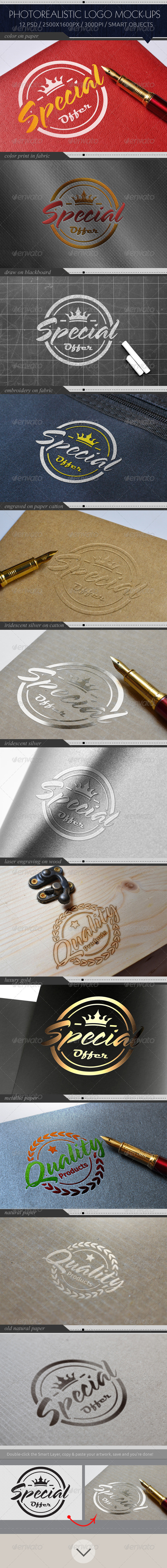 GraphicRiver Photorealistic Logo Mock-Ups 7941892