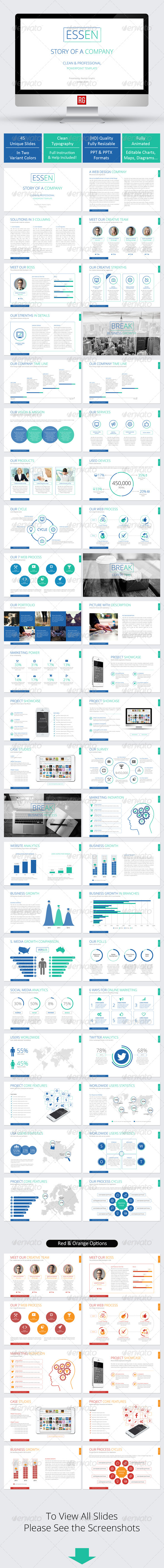 GraphicRiver ESSEN Multi-Purpose Powerpoint Template 7882643