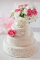 Traditional wedding cake with rose flowers - PhotoDune Item for Sale