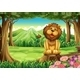A Smiling King Lion above the Stump - GraphicRiver Item for Sale