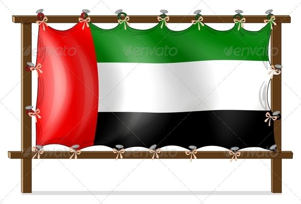 A Wooden Frame with the UAE Flag