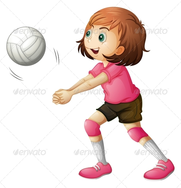 GraphicRiver A Young Volleyball Player 7942970