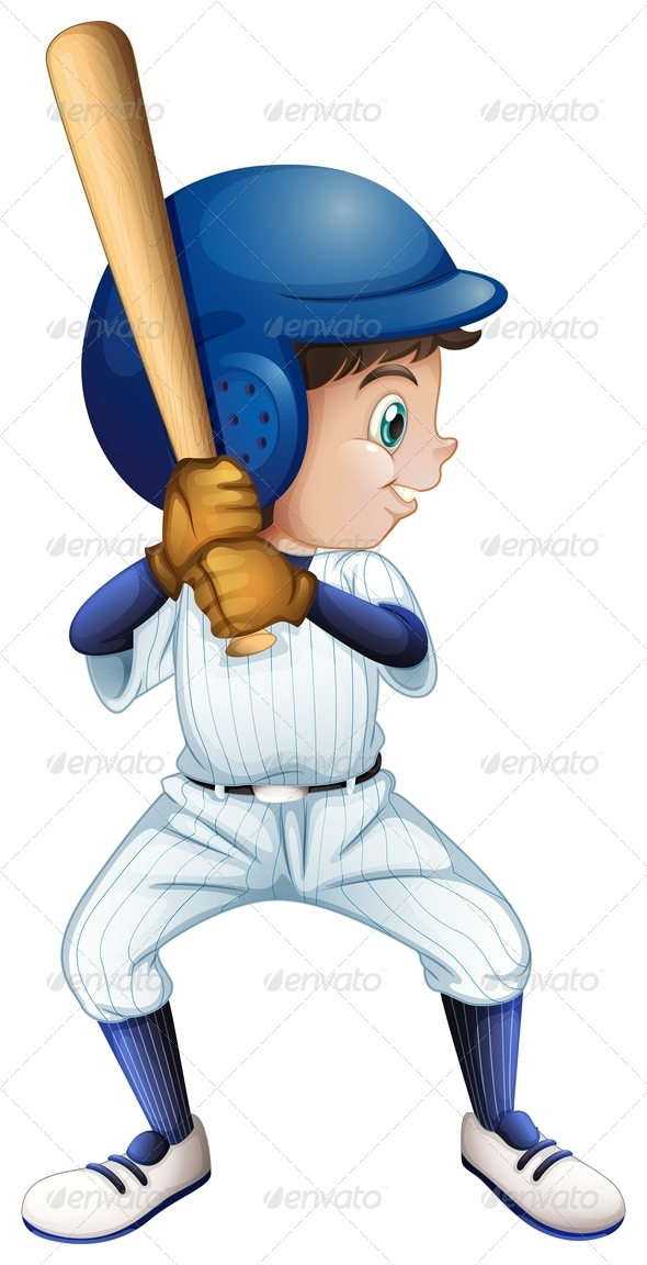GraphicRiver A Young Male Baseball Player 7942987
