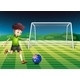 A Boy Kicking the Soccer Ball at the Field - GraphicRiver Item for Sale