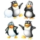 Four Playful Penguins  - GraphicRiver Item for Sale