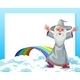 An Empty Template with a Wizard and a Rainbow - GraphicRiver Item for Sale